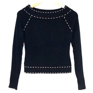NWOT ETINCELLE COUTURE SWEATER IN BLACK